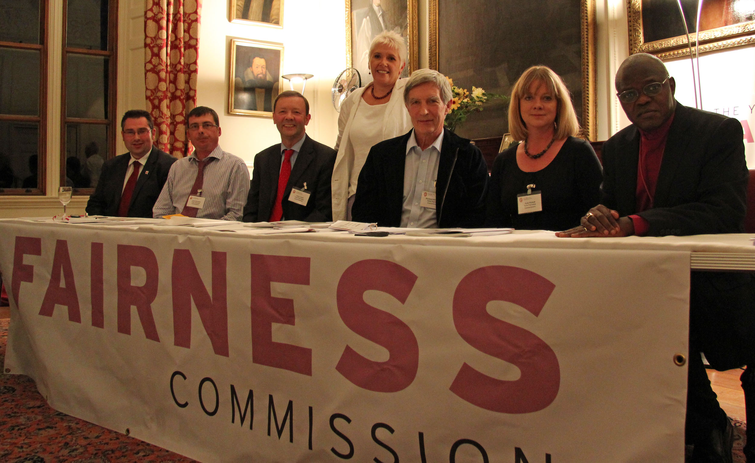 Fairness Commission Panel: James Alexander, John Kennedy, John Lister, Ruth Redfern, Richard Wilkinson, Kate Pickett, ABY at Bishopthorpe Palace