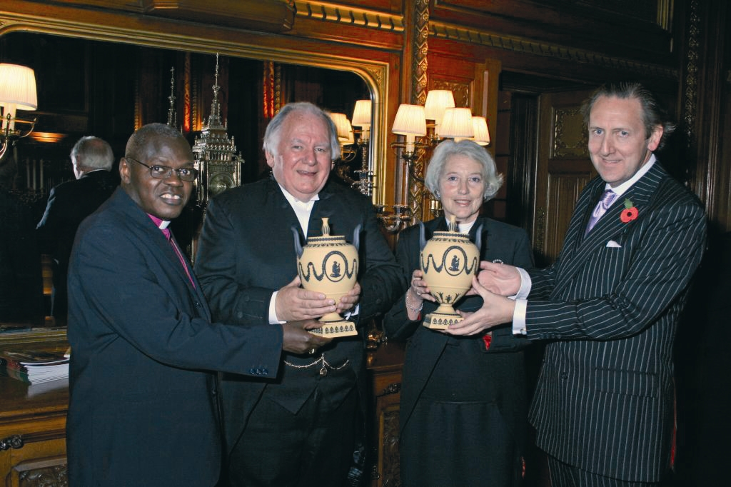 Presentation of slave vases to Speakers of the House of Lords and Commons in 2017