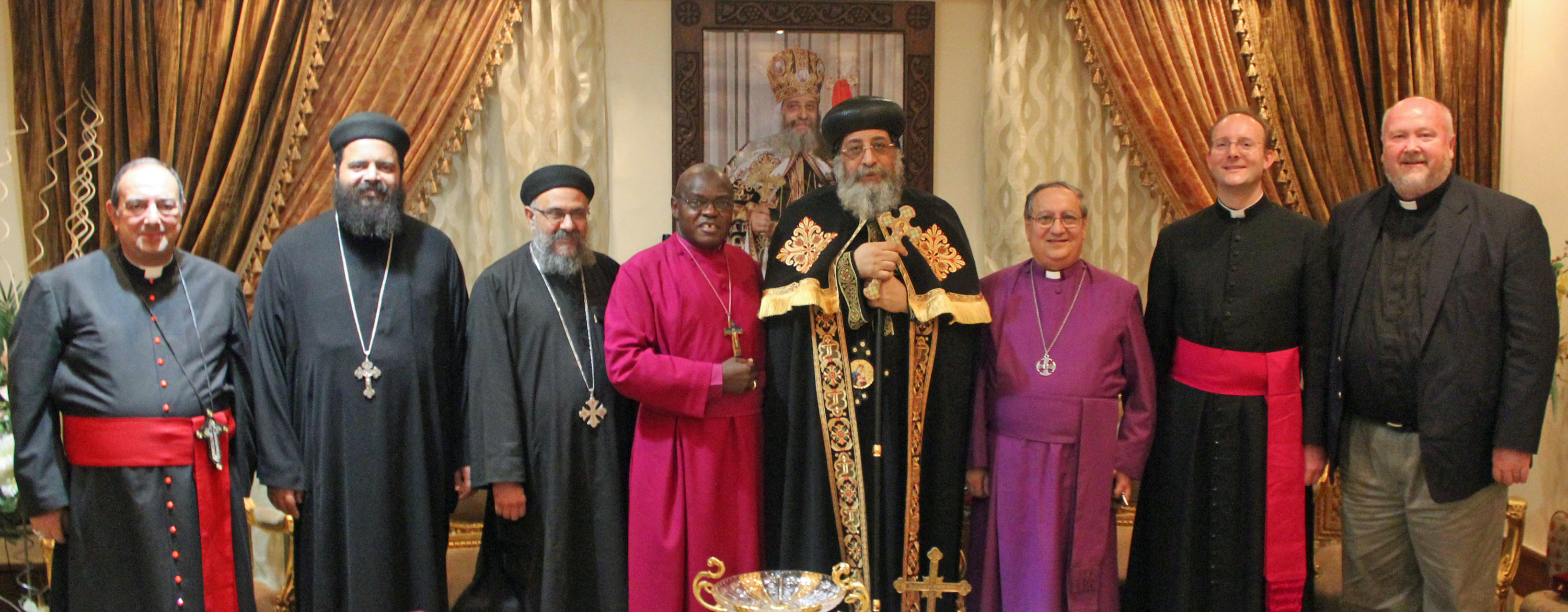 Archbishop with Pope Tawadros II