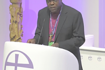 Archbishop of York delivering speech General Synod