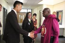Archbishop Met by Students on Arrival at Cooperative Academy Leeds