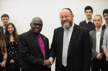 Archbishop and Chief Rabbi with students at Durham University
