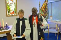 Archbishop with new Chaplain in chapel at York Hospital