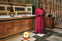 Archbishop Sentamu's Vigil of Hope and Trust for Peace at York Minster in St John's Chapel