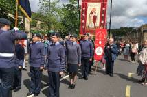 Procession of uniformed organisations Saddleworth Whit walk