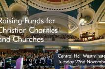 Poster advertising Raising funds for Christian charities and churches event