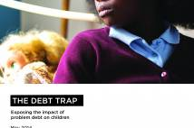 Debt trap report cover - The Children's society