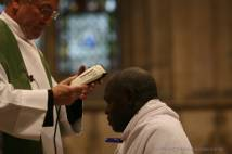 Archbishop shorn and anointed in preparation for prayer and fasting