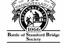 Logo for 950th anniversary battle of stamford bridge