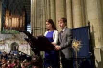 Archbishop Holgate's head boy and girl reading in York Minster 2015