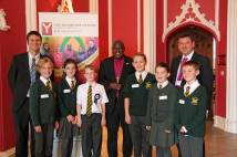 Heads conference dan finn, ripon cathedral pupils, Archbishop and headteacher