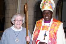 Sister Carole with Archbishop at licensing in 2015