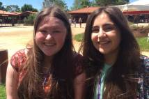 2 girls smiling at Taize 2016