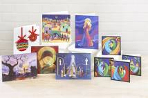 A selection of traditional Christmas cards
