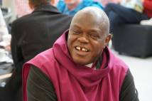 Archbishop of York enjoying a laugh at Community cafe