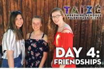 3 students smiling at Taize Day 4 2018