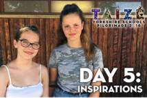 Taize Day 5 Inspirations. Two female students at Taize