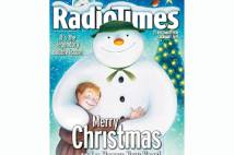 Front cover of the Radio Times showing The Snowman and boy