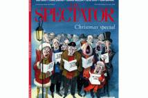 Front cover of the Spectator magazine showing cartoon carol singers