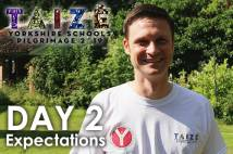 Head and shoulders of Youth Trust Director wearing Taize tshirt