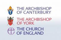 3 logos of Archbishops of Canterbury, York and Church of England