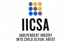 3x3 coloured circles above letters of IICSA