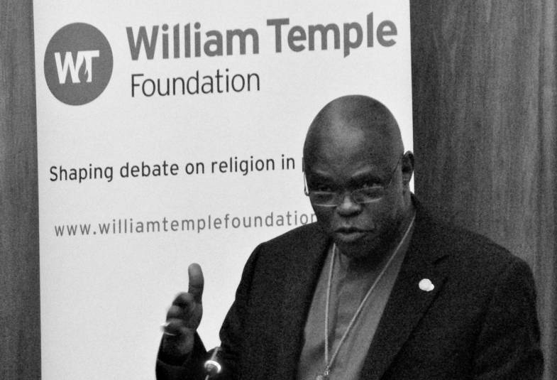 Archbishop speaking at William Temple Foundation Lecture