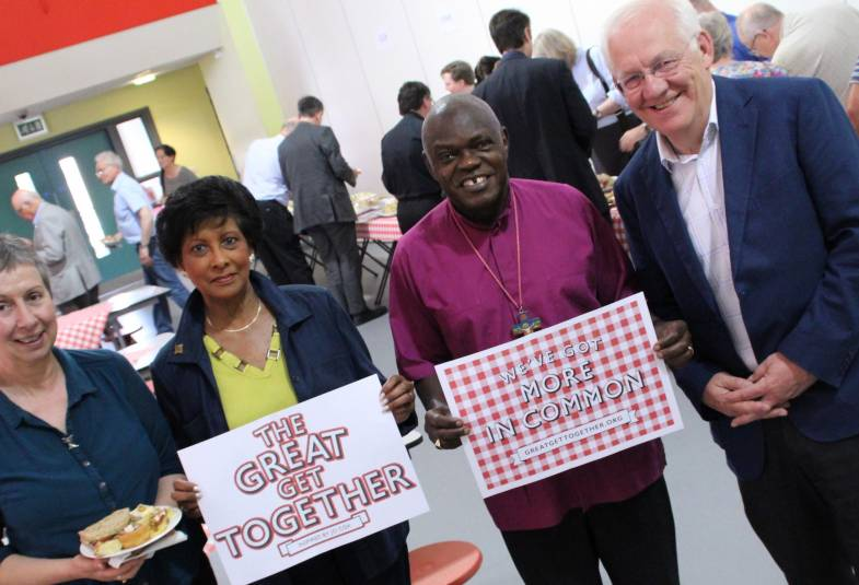 Archbishop with 3 others at the Great Get Together York Synod 17 June 2017