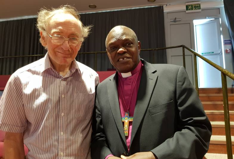 Michael Clarke and Archbishop of York at General Synod