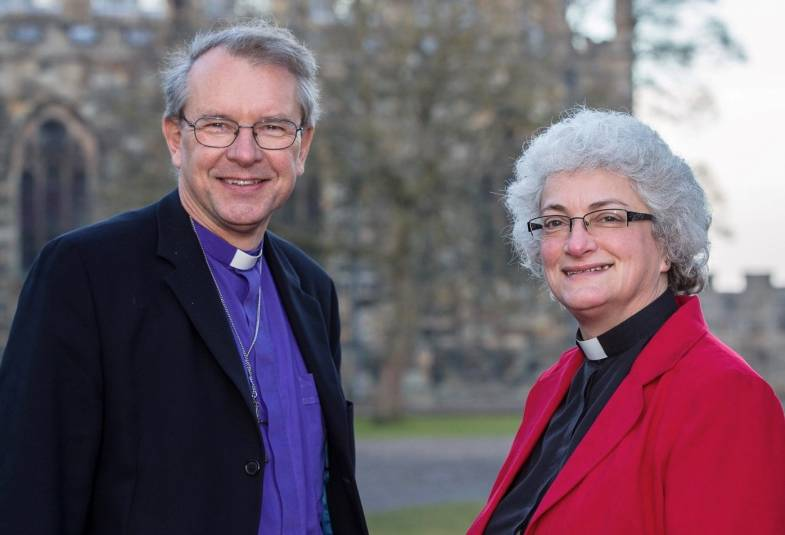 Bishop of Durham with Bishop Designate of Jarrow