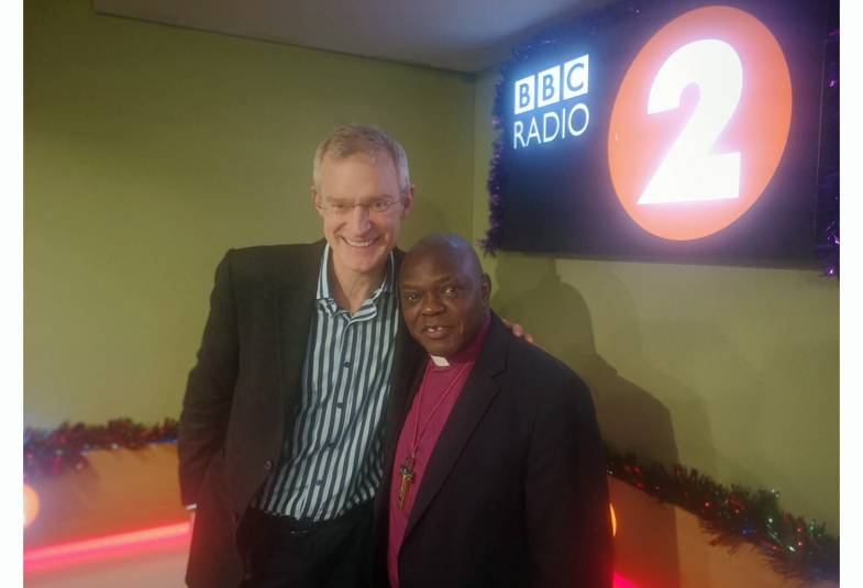 Jeremy Vine with the Archbishop of York at BBC Radio 2