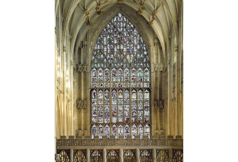 Large arch window from inside York Minster