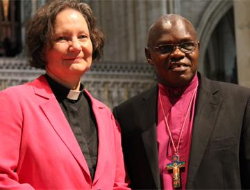 Dean Viv Faull and Archbishop of York at York Minster