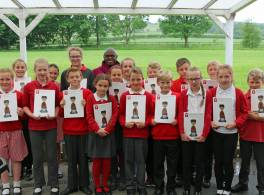 Archbishop with Young Leaders from West Heslerton Primary School