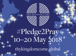 Pledge to Pray May 2018 Thy Kingdom Come graphic