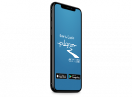 The LentPilgrim app shown running on an iPhone XS