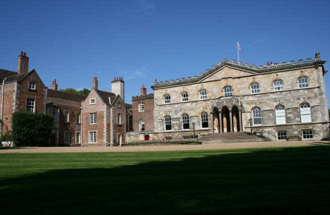Exterior of Bishopthorpe Palace in sunshine