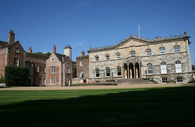 Exerior view of Bishopthorpe palace in the sun