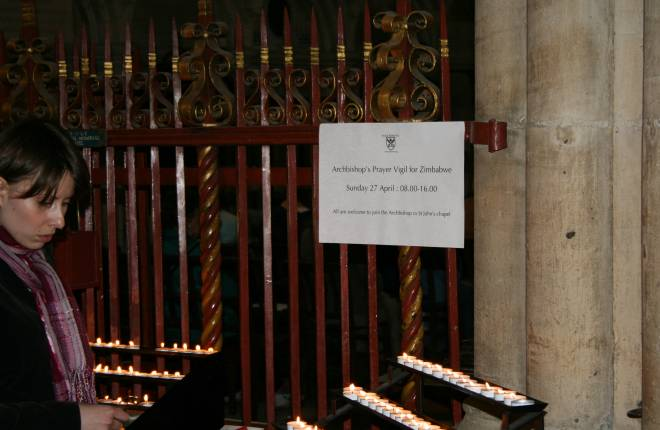 Archbishop calls for public to join him for day of fasting and prayer In York Minster for Zimbabwe