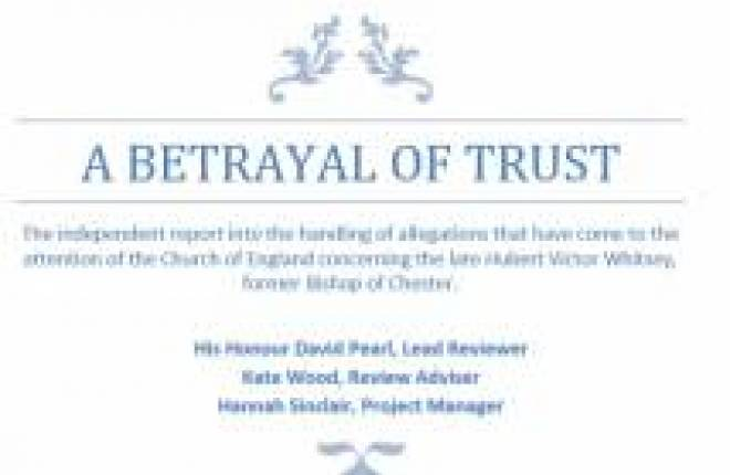 Text from front of Betrayal of Trust report