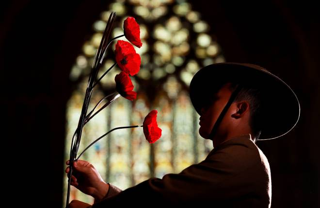 Photo credit Charlotte Graham Photography. York Minster marks Armistice centenary