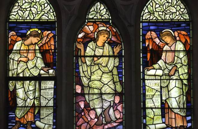 Stained glass window - 3 panels